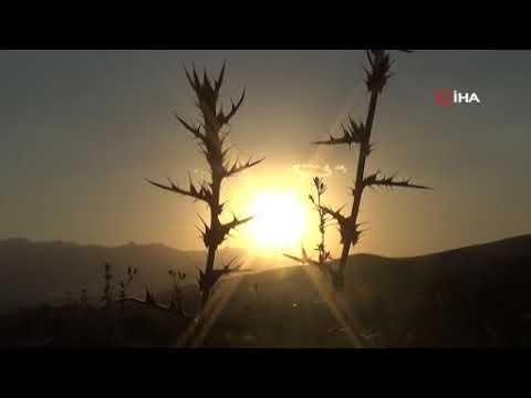 Yüksekova'da kartpostallık gün batımı