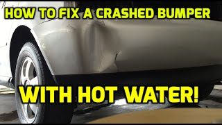 Bumper Repair | How To Fix A Car Bumper With Hot Water ✔