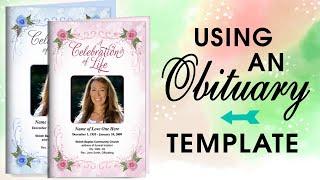 Using An Obituary Template - Obituary Program