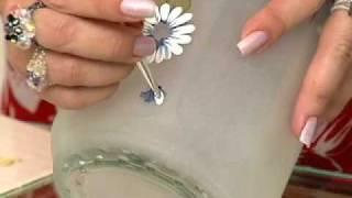 Como fazer falso jateado em vidro para pintura