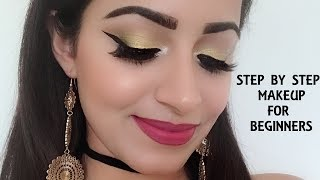 मेकअप कैसे करें | Complete Step By Step Makeup For Beginners (HINDI)| Deepti Ghai Sharma