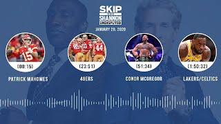Patrick Mahomes, 49ers, Conor McGregor, Lakers/Celtics (1.20.20) | UNDISPUTED Audio Podcast