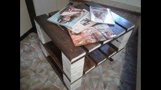 журнальный столик своими руками из подручных материалов