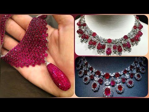 Outstanding Stylish Ruby Diamond Necklace Designs Collection Ideas For Women