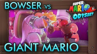 Super Mario Odyssey - Giant Mario vs Bowser