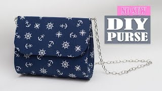 DIY PURSE BAG NO SEW TUTORIAL // Just in 20 Min Cute Woman Bag