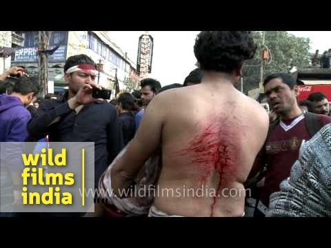 Shiite Muslims Bleed As They Flagellate Themselves During Muharram Mp3