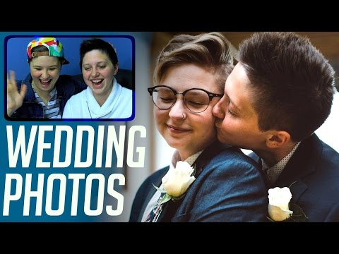 Gay Couple Sees Wedding Photos For First Time :)