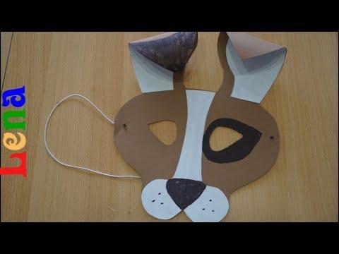 Hunde Maske basteln mit Lena 🐶 How to make a dog mask 🐶 как сделать маску собаки из бумаги