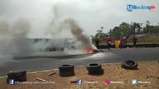 Satu Motor Terbakar di Cabor Balap Motor Porprov Jateng 2018