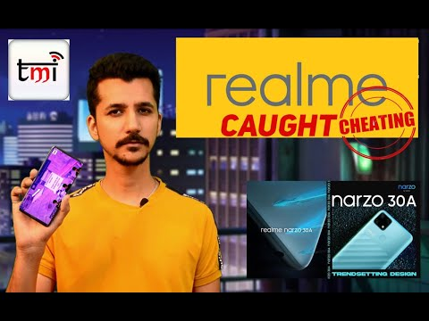 Realme caught cheating!