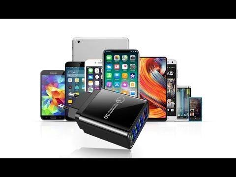 Зарядное устройство с поддержкой Quick charge 3.0 на 3 USB и на 4 USB порта