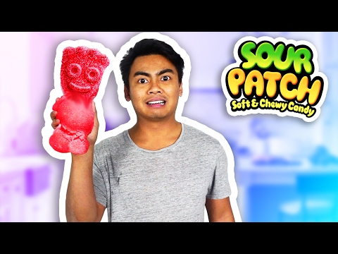 DIY How To Make Giant Sour Patch Kids!