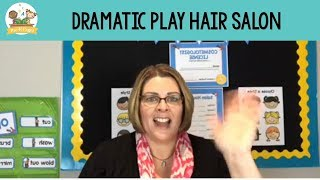 Dramatic Play Hair Salon For Preschool