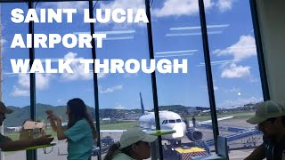 🔴 Terminal Walk Through To Boarding Saint Lucia Caribbean Hewanorra Airport 🔴