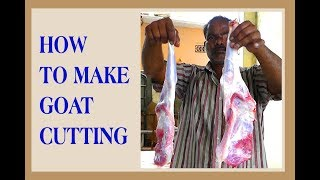 How To Make  GOAT Cutting || Village Style || KIKTV Indian Street Food