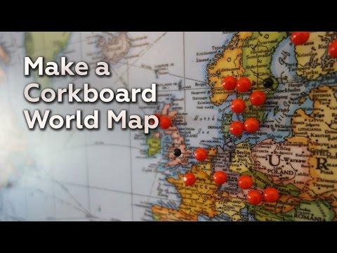 Korkboard Weltkarte - Geografisches Hilfsmittel für die jährliche Urlaubsplanung
