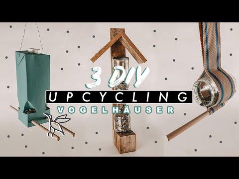 3 DIY Upcycling Vogelhäuser Ideen mit Linda DIY | EASY ALEX