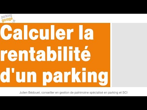 rentabilité parking garage