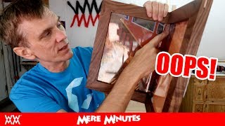 My wacky frame fell off the wall! | MERE MINUTES VLOG