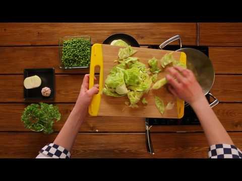 Рецепт недели - крем-суп из салата и зелёного горошка
