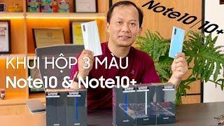 Khui Hộp 3 Màu Galaxy Note10 Và Note10+ Bản Thương Mại Chính Hãng (Samsung Note10 Unboxing)