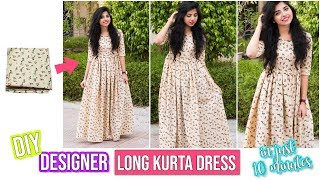 DIY: Designer Ankle Length Kurta Dress In 10 Minutes