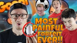 THE MOST PAINFUL FORFEIT EVER!! ONLINE HEAD BALL CHALLENGE