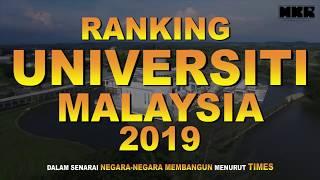 Ranking Universiti Malaysia 2019