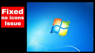 no desktop icons or start menu windows 7 | desktop icons not loading | Raj Tech |