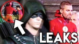 THE FLASH Oliver and Superman Fight LEAKED - DCTV Elseworlds Crossover Teaser