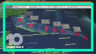 Tropical Depression 13 forecast to strengthen into Tropical Storm Laura