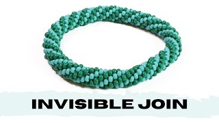 Invisible Join In Bead Crochet | Connect 2 Bead Crochet Ropes | Bead Crochet Tutorial
