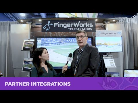Bluefish444 with Fingerworks Telestrators at NAB Show 2018