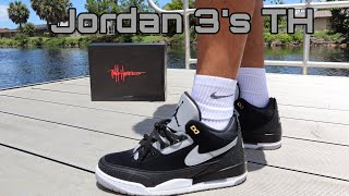 premium selection 0d3fd fe80a air jordan 3 tinker black cement on feet - Thủ thuật máy ...