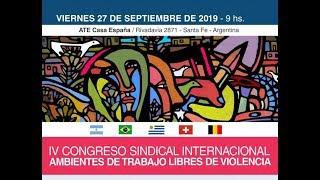 Acto de Apertura del IV Congreso Sindical Internacional 2019
