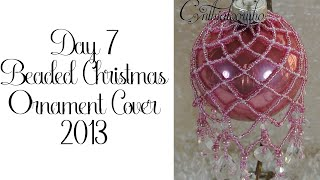 Beaded Christmas Ornament Cover 7/2013
