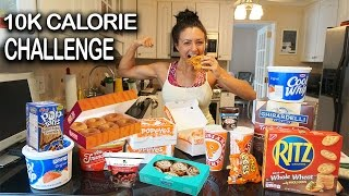 10K Calorie Challenge | Girl VS food | Epic Cheat Day | Ashley Nocera - Video Youtube
