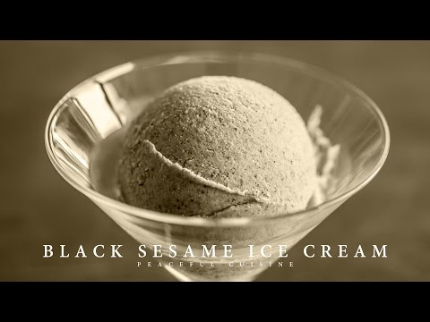 Video [No Music] How to make Black Sesame Ice Cream
