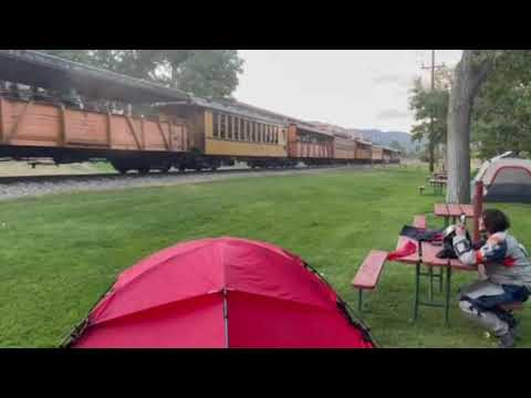Our own train in camp
