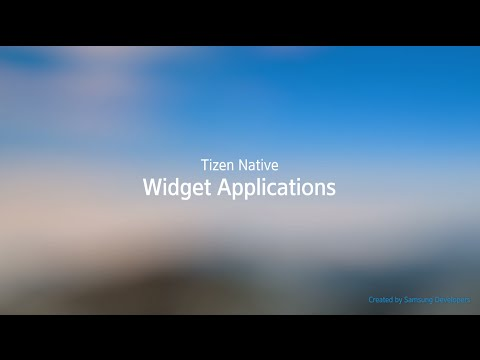 [Native] Widget Applications