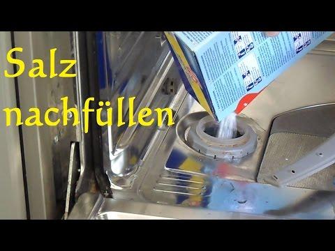 Spülmaschine: Salz nachfüllen - so einfach wirds gemacht