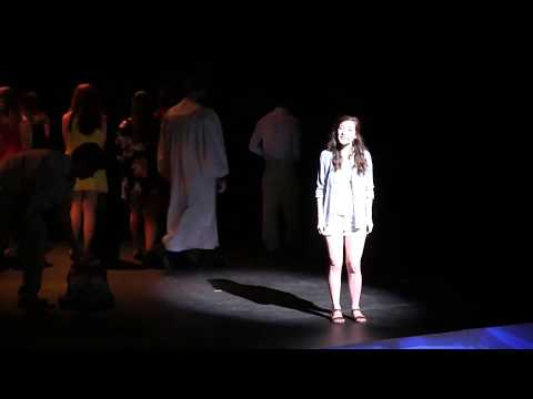 "Haley Fryer singing ""I Have a Dream"" as Sophie Sheridan in Mamma Mia! with the Central Illinois Stage Company"