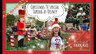 2017 Disney's Christmas TV special taping at Walt Disney World W/ 98 Degrees 🎄