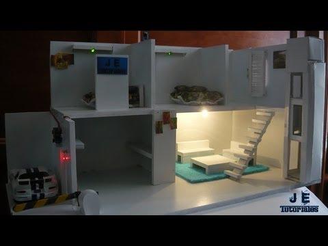 IDEAS PROYECTO MAQUETA DE CASA CON ILUMINACIN  TECNO Y TIC