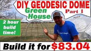 DIY 🌴Geodesic Dome Greenhouse🌴....Build For $83.04