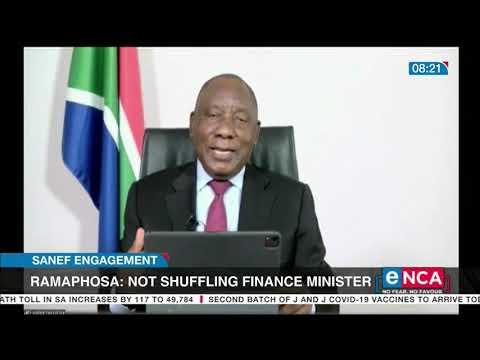 Ramaphosa says not shuffling Finance Minister