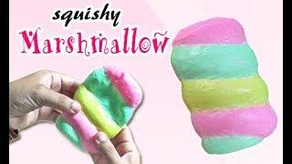 Cara Membuat Squishy Marshmallow - How To Make Marshmallow Squishy