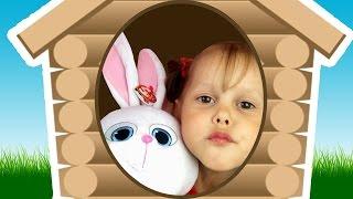 Тайная Жизнь Домашних Животных Кролика Снежка выгнали из дома Нашли Снежка Строим домик для Снежка