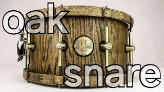 HHG drums oak stave snare with matching oak hoops